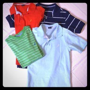 Boys Nautica Size M 10/12 Collared Shirts-1 VNeck